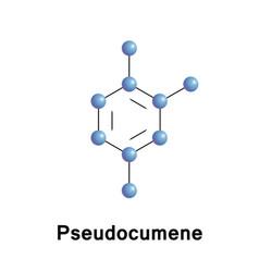 124-trimethylbenzeneor pseudocumene vector