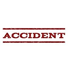 Accident watermark stamp vector