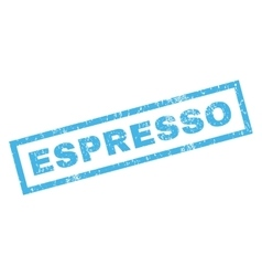 Espresso rubber stamp vector
