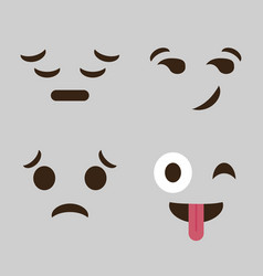 Emoticon cartoon face icon vector