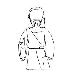 jesus christ devotion sacrifice sketch vector image