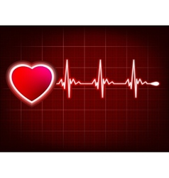 Heart and heartbeat symbol on monitor eps 8 vector