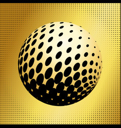 set abstract halftone 3d spheres 35 vector image
