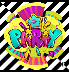 Bright party vector