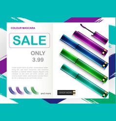 Mascara package design vector