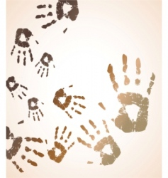 handprint color background vector