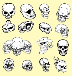 Skulls cartoon vector