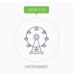 Ferris wheel icon entertainment park sign vector