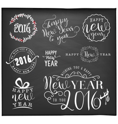New Year and Christmas Badges and Labels vector image