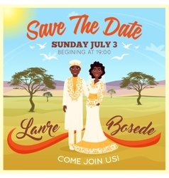 Africans wedding couple poster vector