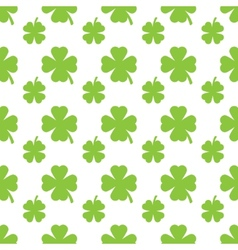 Abstract green clover seamless pattern vector image vector image