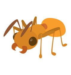 Ant icon cartoon style vector