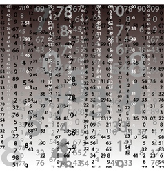 background with numbers vector image vector image