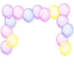 Background with transparent balloons vector