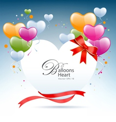 Balloon heart card vector