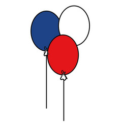 balloons air party icons vector image vector image