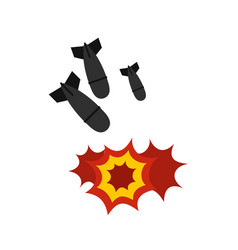bomb icon flat style vector image