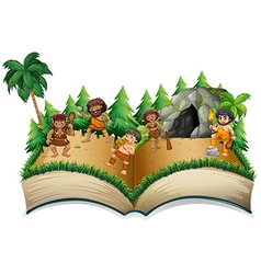 Caveman Book vector image vector image