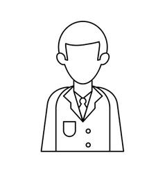 Character doctor uniform health outline vector