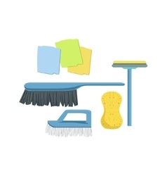 Cleaning household equipment set vector