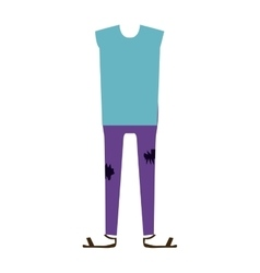 Color silhouette with male clothing pijama vector