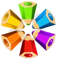 Colour pencils star vector