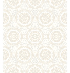 Elegant circular pattern in white vector