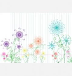 Flower doodles vector