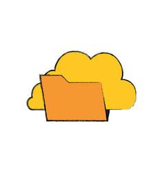 Folder data symbol vector