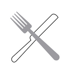 fork and knife cutlery vector image