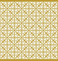 Golden vintage decor seamless pattern vector
