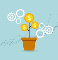 Growth funding presentation graph vector