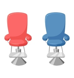 Hairdresser barber chair vector
