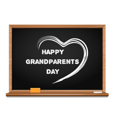 Happy grandparents day chalkboard vector