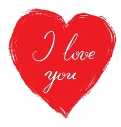 I love you - calligraphy vector image