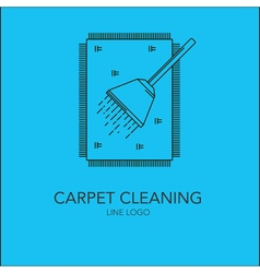 line carpet cleaning concept vector image vector image