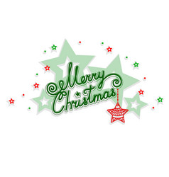 Merry christmas with an openwork design vector