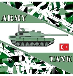 Military tank turkey army Armur vehicles vector image