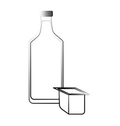 milk bottle drink vector image
