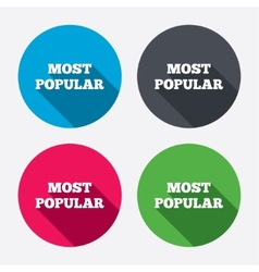 Most popular sign icon bestseller symbol vector
