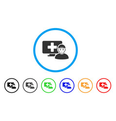 Online patient rounded icon vector