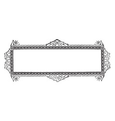 ornate banner have royal window frame design vector image vector image