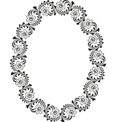 oval border vector image