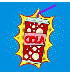 Paper cup for cola vector image vector image