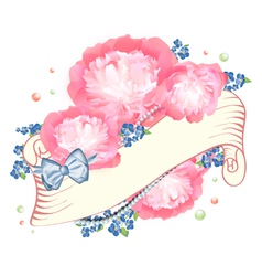 Peony flower design vector