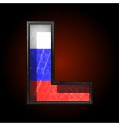 Russian metal figure l vector
