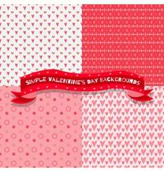 Set of four cute and simple valentines day vector image