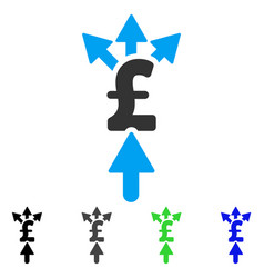 Share pound payment flat icon vector