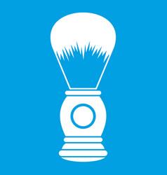 Shaving brush icon white vector