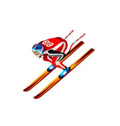 Skier clipart skiing downhill vector
